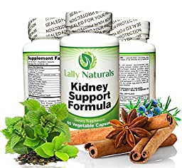 Kidney Support, Cleanse & Detox Supplement with Organic Cranberry - 60 Vegan Capsules ★ Natural Kidney Cleanse ★ Astragalus, Buchu, Juniper Berries & more. Supports the Kidneys and Urinary Tract.