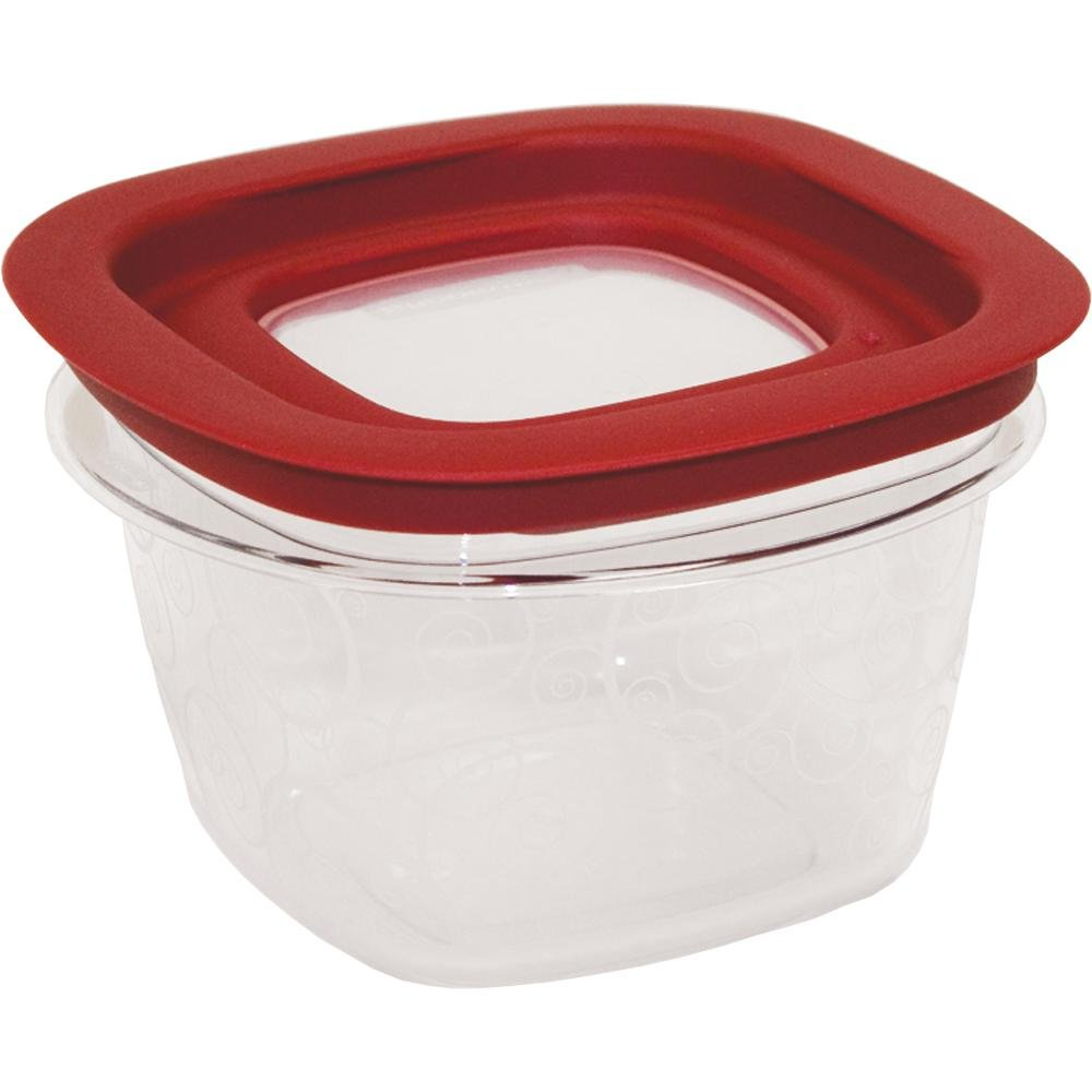 Rubbermaid Home FG7H75TRCHILI 2.0 Cup Premier Food Storage Container - Durable shatterproof plastic resists stains and odors for lifetime of clarity