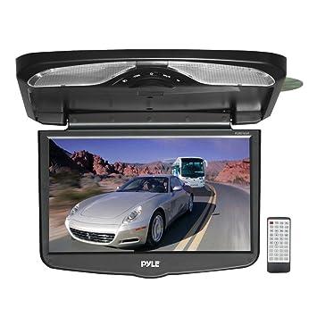"""Pyle PLRD163IF Écran TFT LCD pour automobile, fixation plafond, DVD/SD/USB intégrés, FM sans fil et transmetteur infrarouge 16,4"""""""