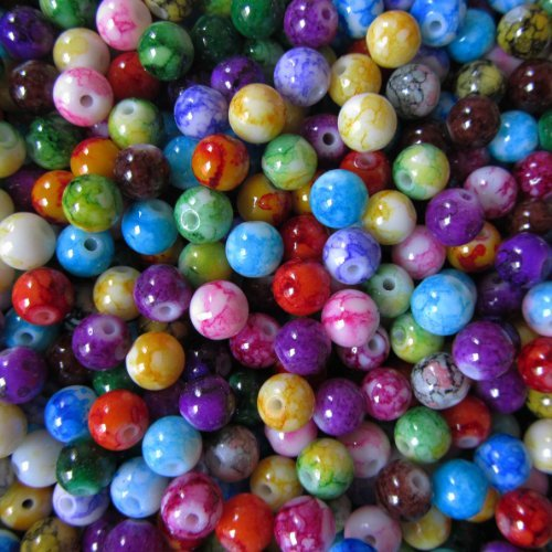 pretty-pebbles-beads-100-painted-glass-beads-marble-effect-multi-colour-mix-8mm