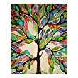 Custom Beautiful Modern Art Abstract Painting Colorful Tree of Life Canvas Print 16\