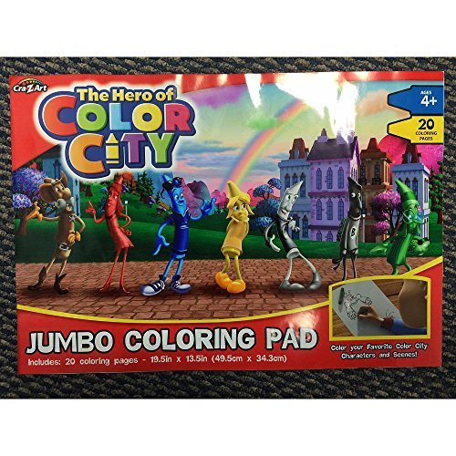 Hero of Color City Jumbo Coloring Pad - 1