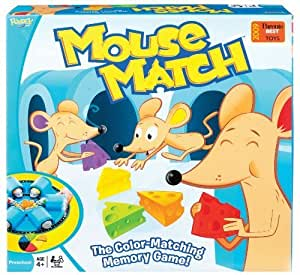 POOF-Slinky 0X2590 Ideal Mouse Match Color Memory Game by Fundex Games TOY (English Manual)