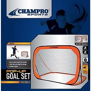 Champro Pop Up Goal, Individual (Orange, 6 x 4-Feet)