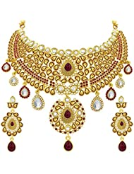 Sukkhi Fancy Gold Plated AD Necklace Set For Women - B01FM866LQ