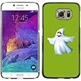 QCASE / Samsung Galaxy S6 SM-G920 / ghost white funny scary cute ku klux klan / Slim Black Plastic Case Cover Shell Armor