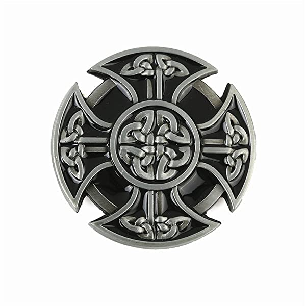 Classic Rodeo Celtic Pattern Belt Buckle Rectangle Metal Indian Silver