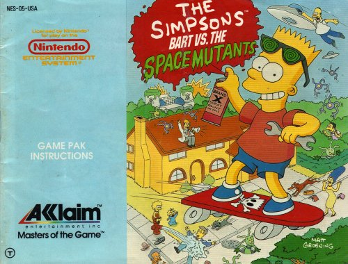 The Simpsons - Bart vs The Space Mutants Instruction Booklet / Manual (NES Manual Only) (Nintendo NES Manual) (Bart Simpson Vs Space Mutants compare prices)