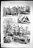 Sporting Dramatic News 1885 Old Lancashire Halls Adlington Oxendale Livesey