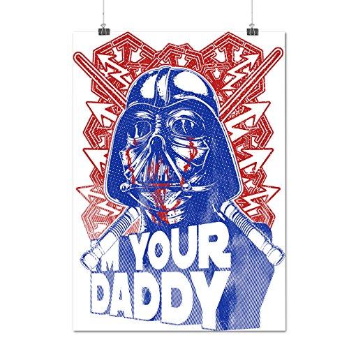 Darth Vader Papa Luc Foncé Côté Matte/Glacé Affiche A2 (60cm x 42cm) | Wellcoda