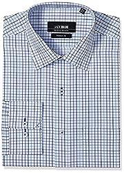 Jadeblue Men's Formal Shirt (1116204024UAJ2_24UA_40_White, Blue and Mint)
