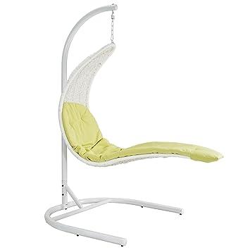 LexMod Enclave Wicker Rattan Outdoor Wicker Patio Swing Chair ? Suspension Series