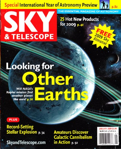 Sky & Telescope Magazine January 2009 - Looking For Other Earths