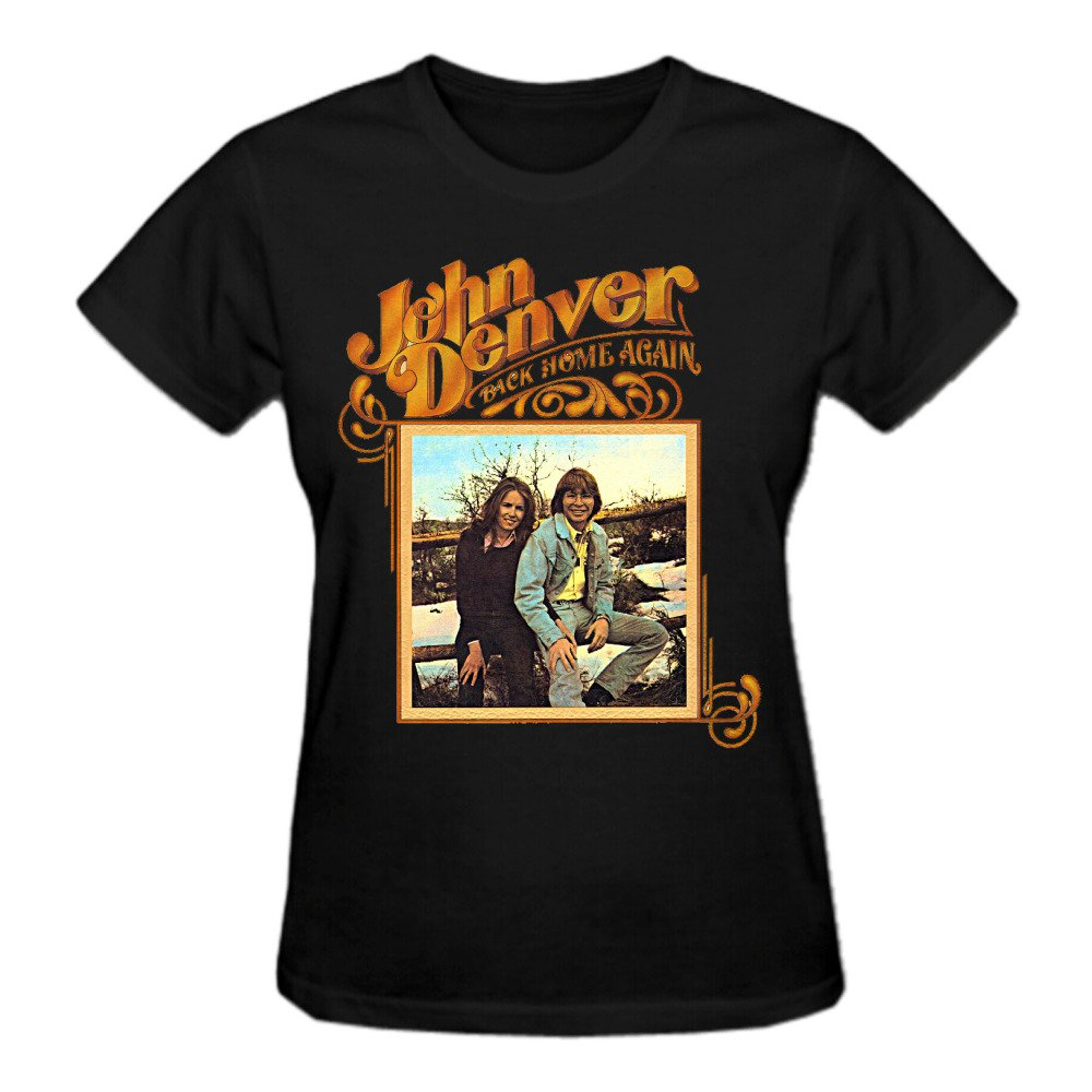 Abover John Denver Back Home Again Women T Shirts Round Neck 0