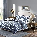 Sleep Philosophy True North Peyton Reversible Plush Comforter Mini Set, King, Indigo