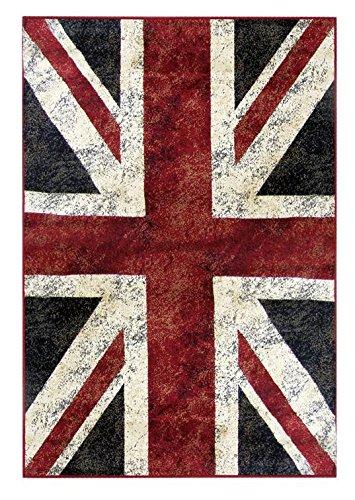 Vintage Teppich Bunt Union Jack, gewebt, modern & trendy