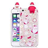 IPhone 6/6s Case, Transer 3D Cute Christmas Cartoon Soft Silicone Case Skin For IPhone 6/6s 4.7 Inch (E) (Color: E, Tamaño: M)