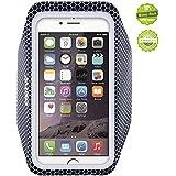 iPhone6アームバンドケース 厚さ僅か2mmの超薄型,EOTW iPhone6 / 6S 4.7インチ スポーツアームバンド ランニング スマホケース 防水 超軽量 キーポケット付 (黒)