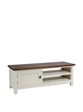 Colonial Style Mueble Para Tv Lucca Blanco/Marrón