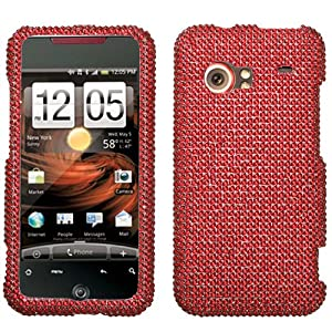Red Diamante Crystal Jewel Phone Case for HTC Droid Incredible Verizon