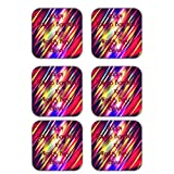 MeSleep Abstract Rakhi Wooden Coaster-Set Of 6