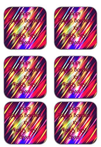 MeSleep Abstract Rakhi Wooden Coaster-Set Of 6
