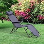 Outsunny Folding Lounge Chair Chaise...