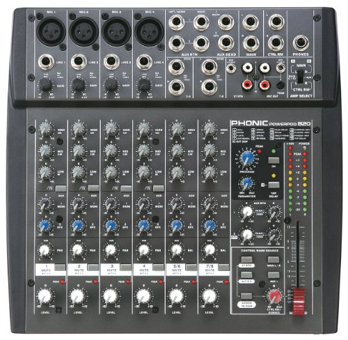 Phonic Powerpod 820 200W 8-Channel Powered Mixer