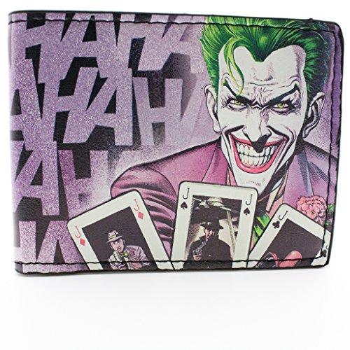 DC Comics Batman Laughing Joker Viola portafoglio