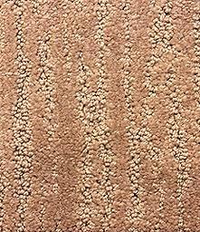 9\'x12\' Soft Sand Honey Beige Loop/ Cut/ Loop Pattern Textured Area Rug