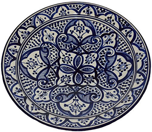 ceramic-plates-moroccan-handmade-serving-wall-hanging-exquisite-colors-decorative-14-inches-diameter