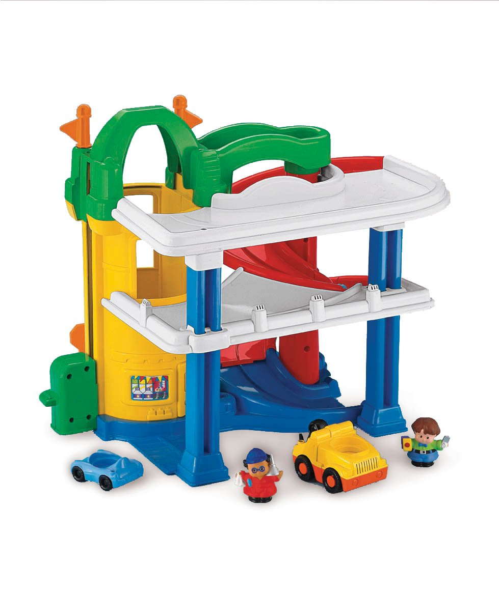 Garage fisher price - Fisher price little people racin ramps garage ...