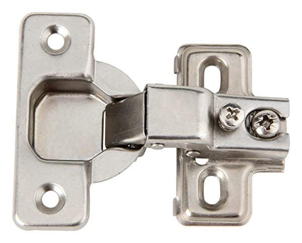 Silverline Face Frame Concealed Euro 105Deg Self Closing Compact Cabinet Hinges, 6 Pack (Color: Satin Nickel, Tamaño: 6 Pack)