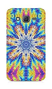Amez designer printed 3d premium high quality back case cover for Samsung Galaxy J5 (Flower graphic vivid multi colored)
