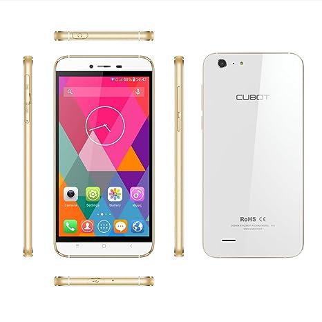 """Cubot X10 Smartphone Android 4.4 MTK6592 Étanche IP65 Mali-450mp4 Système 8-core Deux appareils photo 8/13Mpx Doré Écran 5,5"""" 2Go RAM/16Go ROM"""