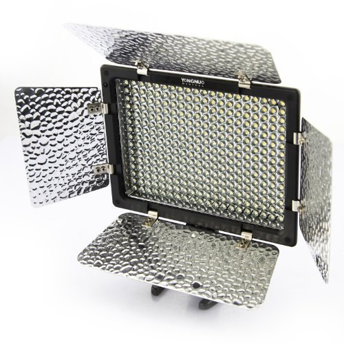 Everstar® Yongnuo Yn300 Led Video Light With 300Pcs Lamps For Camcorder Dslr Camera Canon Eos For Camcorder With Everstar® Microfiber Cleaning Cloths (Yn-300)