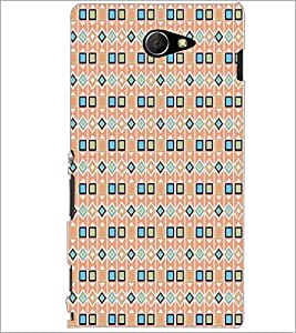 PrintDhaba Patten D-5130 Back Case Cover for SONY XPERIA M2 (Multi-Coloured)