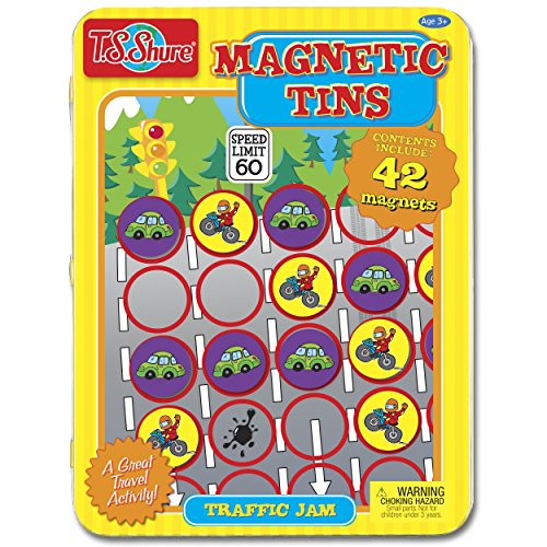T.S. Shure Traffic Jam Game Magnetic Tin Play Set