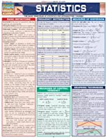 Statistics Laminate Reference Chart: Parameters, Variables, Intervals, Proportions (Quickstudy: Academic )  (Quick Study Academic)