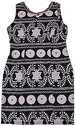 Apsara Women's Regular Fit Dress (Black & White, S)