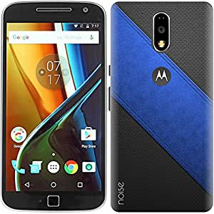 Designer Printed Case / Cover for Moto G4 Plus, 4th Gen / G4 (4th Generation) / Patterns & Ethnic / Blue Broadway Stripe (Multicolor) - By Noise (GD-350)