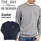 【THE DAY ON THE BEACH ザ デイ オン ザ ビーチ】T/D The Day!トレーナー スウェット トップス 【TD-151014】 GREY(グレー) S