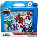 Marvel Super Hero Adventures, Exclusive Figures, Ultimate Super Hero Set [Hulk, Thor, Iron Man, Captain America, Hawkeye, and Black Widow], 6-Pack