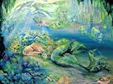 RitaGarden Modern wall art and home decor-Sleeping Mermaid,oil painting for sale Size for 16x20inches(40x50cm)