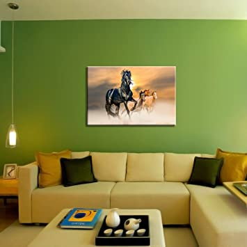 Buy Wall Stickers Wall Decals HD Quality Running Horse For Vastu - Wall decals hd