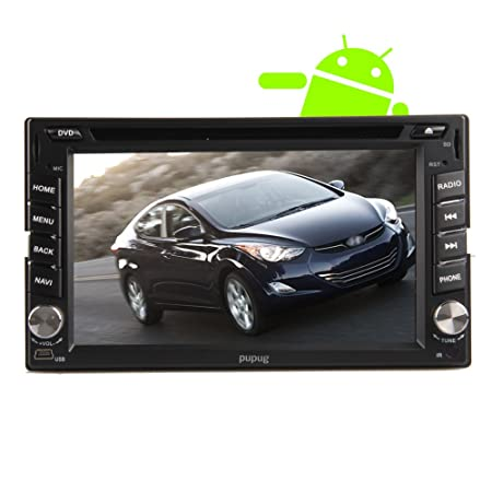 Pupug 6,2 pouces Android 4.2 voiture lecteur DVD PC Pour Universal Hyundai En Dash šŠcran tactile capacitif HD VidšŠo Double Din Navigation GPS StšŠršŠo Radio AM / FM Support SD / USB / Bluetooth / 3