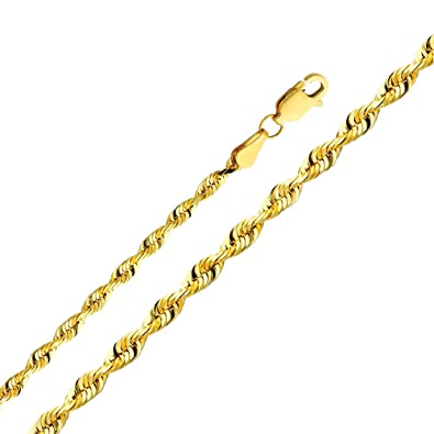 Yellow Gold Rope Chains For Women, Seekyt