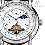 leather watches for men Moonphase Tourbillon Automatic Mechanical Best Wrist Watches