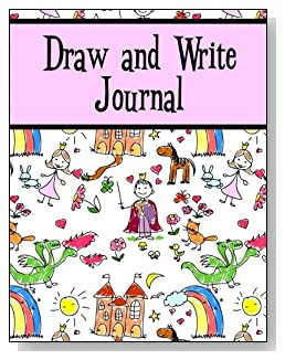 Draw and Write Journal For Girls - The little princess in your life will love the cute storyland scene and pink banner on the cover of this draw and write journal for younger kids.