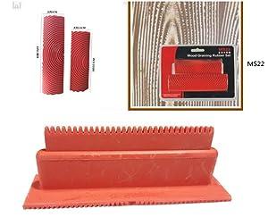 Wood Texture Roller Graining Tool Wallpaper Roller Wall Paint Wood Roller Rubber Graining Painting Tool Real Wood Look Room Decoration DIY Tool
